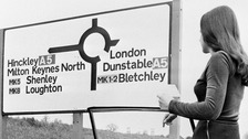 Milton Keynes came up with the idea of using postcodes on it signposts in the 1970s