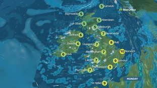 Turning colder, with sunny spells and wintry showers
