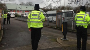 Travellers removed from school car park