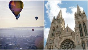 Bristol Balloon Fiesta/Truro cathedral