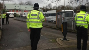 The operation to remove the travellers began at 8am this morning.
