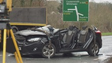 22-year-old man suffering potentially 'life-altering' injuries after A595 crash