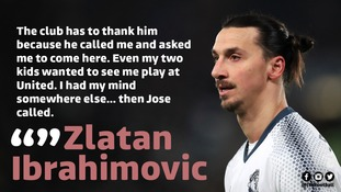 Zlatan Ibrahimovic credits his kids and Jose Mourinho for decision to join Man United