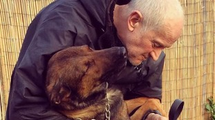 Sergeant Evans with police dog Ivy