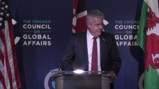 Carwyn Jones on a previous visit to the United States