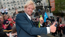 Great Britain's Andy Triggs Hodge during the homecoming event in Leeds City Centre.