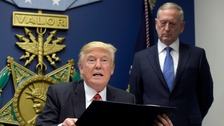 Trump proposes $54bn increase to US defence budget