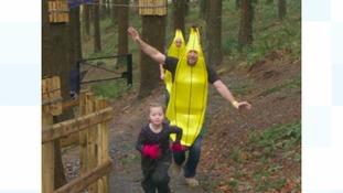 Man dresses as banana