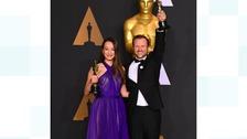 Producer Joanna Natasegara (L) and director Orlando von Einsiede