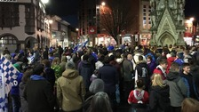 Leicester fans hold rally in support of Claudio Ranieri