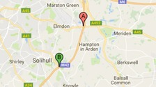 Slow traffic and one lane closed due to accident on M42 Southbound