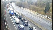 Long delays on M11 after six vehicle crash