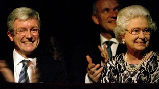The Queen with Tony Hall at the Royal Ballet Gala in 2006