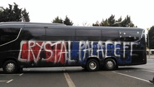 Palace fans mistakenly vandalise their own bus thinking it belonged to Boro