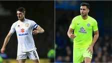 MK Dons (left) and Peterborough United (right) are both away from home tonight.