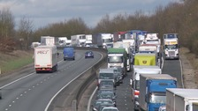 M11 reopens after multi-vehicle crash