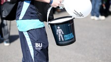 A charity collection box for Prostate Cancer UK