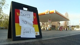Petrol station with no fuel