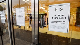 The BHS store in Wood Green north London, after it closed for the last time.