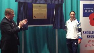 Beth Tweddle open the Battle Back Centre
