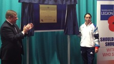 Beth Tweddle open the Battle Back Centre