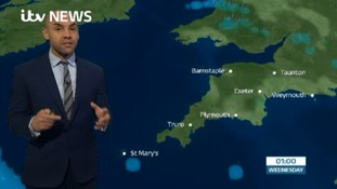 Weather forecast: showers clearing away to a dry night