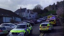Police 'incident' ongoing in Mumbles