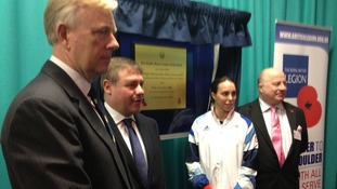 Rt Hon Mark Francois and Olympic Bronze Medallist Beth Tweddle