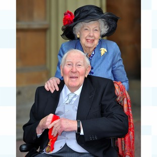 Sir Roger Bannister and his wife Moyra