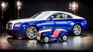 Child-sized Rolls Royce and adult-sized version