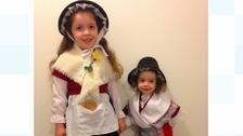 Girls in Welsh costume