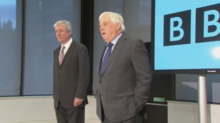 Tony Hall pictured with BBC Trust Chairman Lord Patten
