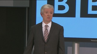 The next Director-General of the BBC, Tony Hall, addresses a news conference
