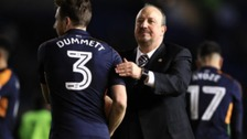 Rafa Benitez celebrates Newcastle's win at Brighton but has warned his team they still need to work hard