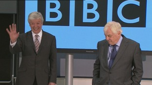 Newly-appointed BBC Director-General Tony Hall with Trust Chairman Lord Patten