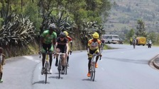 The team took part in a cycle across Rwanda.