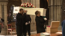 Moving scenes at funeral of Norwich schoolboy