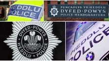 Collage of police signs