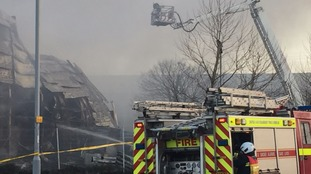 Major fire at waste plant in Exeter