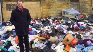 Consumer Editor Chris Choi at a popular fly-tipping spot in Manchester.