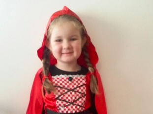 My 5 year old daughter Mollie from Ruthin Denbighshire as Little Red Riding Hood