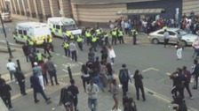 Fights broke out in St George's Square after the carnival had finished last May