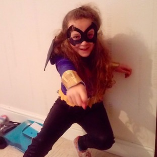 Lara, 9, as Bat Girl in Swansea