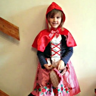 Isobel Edwards as Little Red Riding Hood