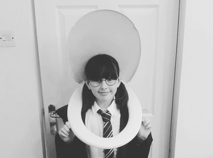 Georgie Nolan aged 10 from Troedyrhiw, Merthyr Tydfil, dressed as Moaning Myrtle from Harry Potter