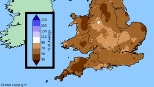 Winter rainfall across the south of Britain was below average in 2016/17.