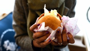 Most young adults tuck into fast food at least once a week, the report found.
