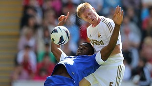 Swansea City defender Alan Tate joins Leeds on loan