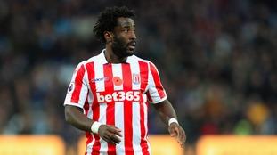 Hughes says Bony has been 'unlucky' at Stoke