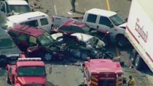 Cars involved in the pileup
